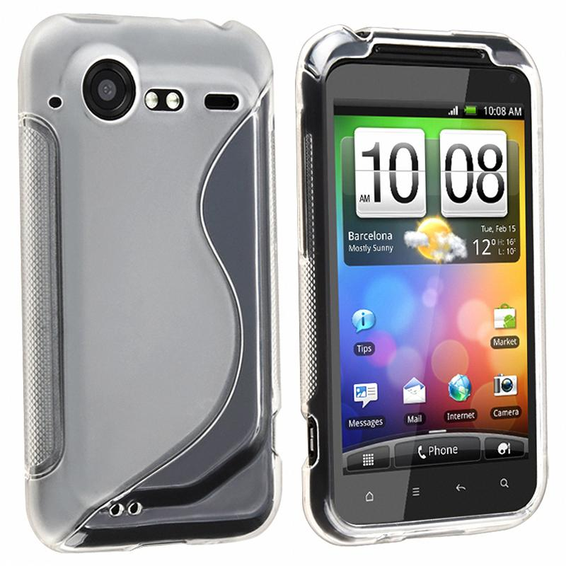 INSTEN Frost White TPU Rubber Phone Case Cover for HTC Droid Incredible 2/ S