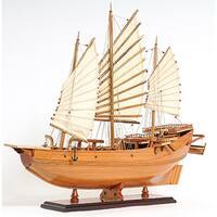 Old Modern Handicrafts Chinese Junk Model