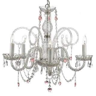 Gallery Venetian-style All Crystal 5-light Chandelier