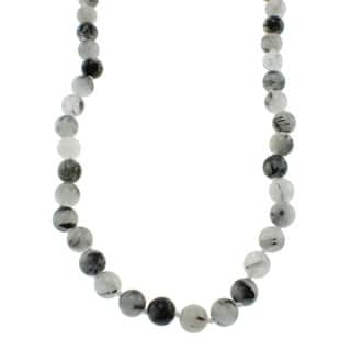 Pearlz Ocean Black Rutilated Quartz Knotted Endless Necklace|https://ak1.ostkcdn.com/images/products/6150566/P13809740.jpg?impolicy=medium