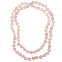 Pearlz Ocean Rose Quartz Knotted Endless Necklace|https://ak1.ostkcdn.com/images/products/6150569/Pearlz-Ocean-Rose-Quartz-36-inch-Knotted-Necklace-P13809753.jpg?impolicy=medium