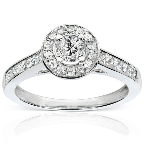 Annello by Kobelli 14k White Gold 3/4ct TDW Diamond Engagement Ring (H-I, I1-I2)