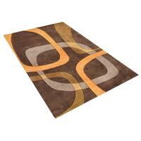 Alliyah Handmade Brown New Zealand Blend Wool Rug (5' x 8') - 5' x 8'