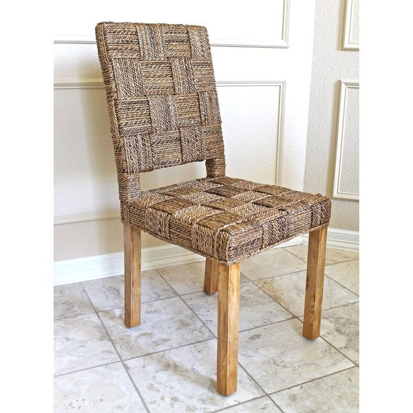 Rica High-back Basket Weave Chairs (Set of 2)