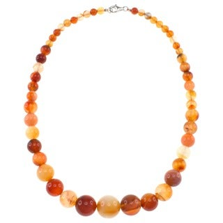 Pearlz Ocean Carnelian Graduated Necklace