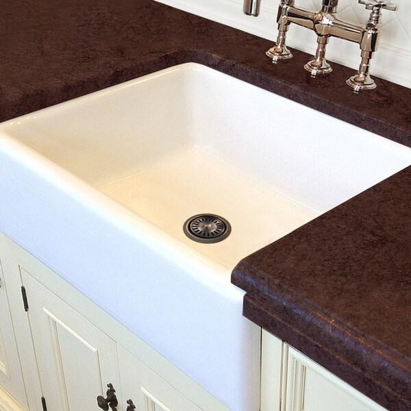 Italian White Fireclay 30-inch Farmhouse Kitchen Sink