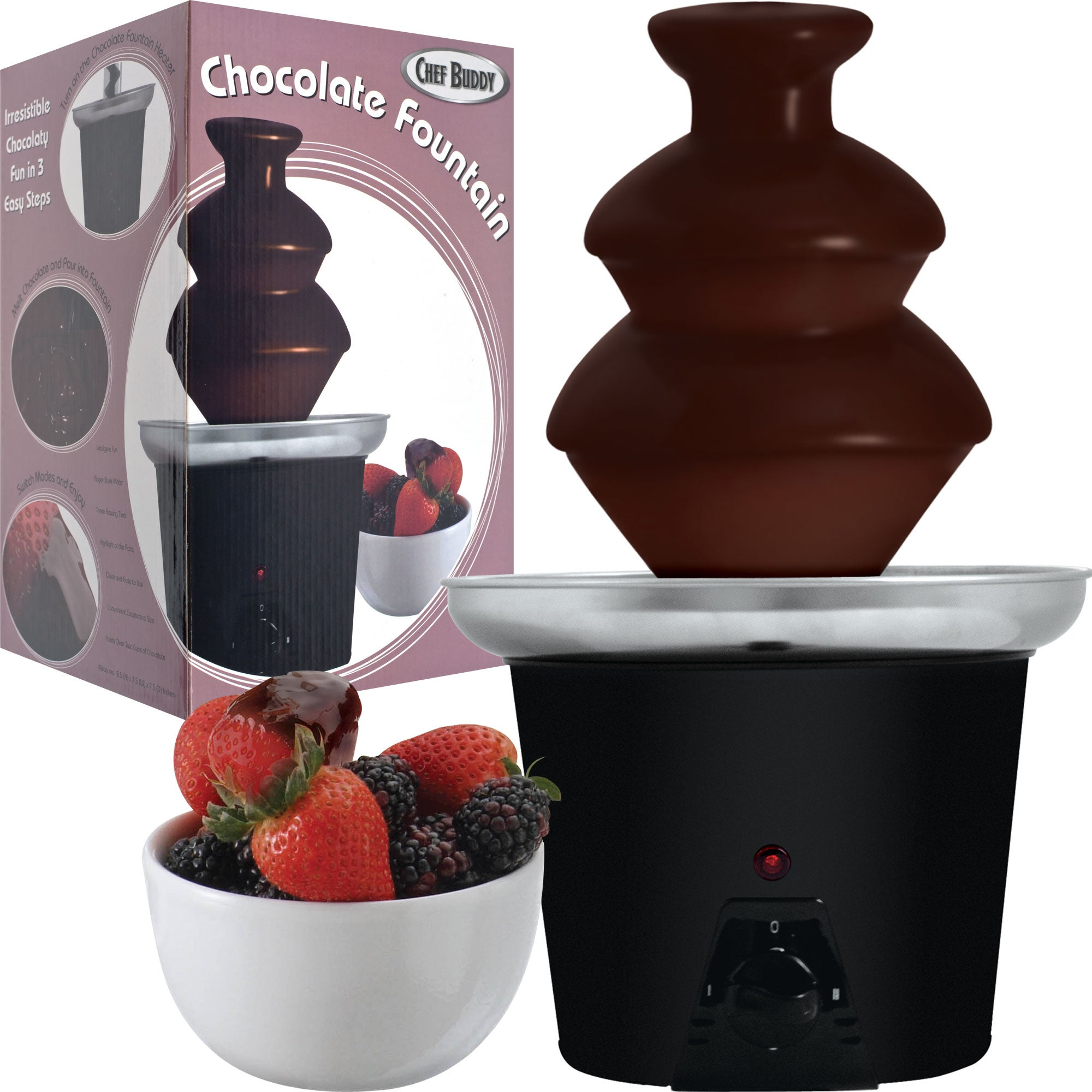 Chef Buddy Countertop Chocolate Fountain - Thumbnail 0