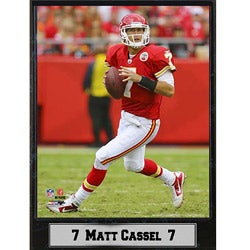 Kansas City Chiefs Matt Cassel Stat Plaque