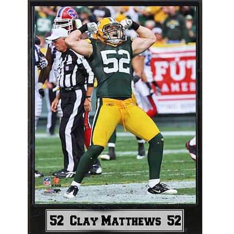 Green Bay Packers Clay Matthews Stat Plaque