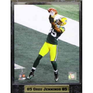 Green Bay Packers Greg Jennings Stat Plaque