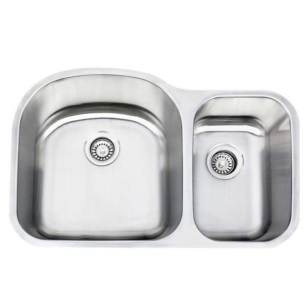 18 Gauge Stainless Steel Undermount 70 30 Ratio Double Bowl Kitchen Sink