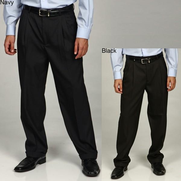 Shop Eddie Domani Men S Pleated Button Tab Dress Pants