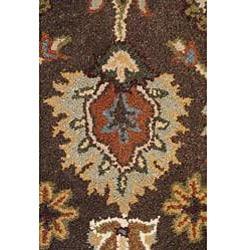 Hand-tufted Royal Garden Autumn Brown Wool Rug (3'3 x 5'3)