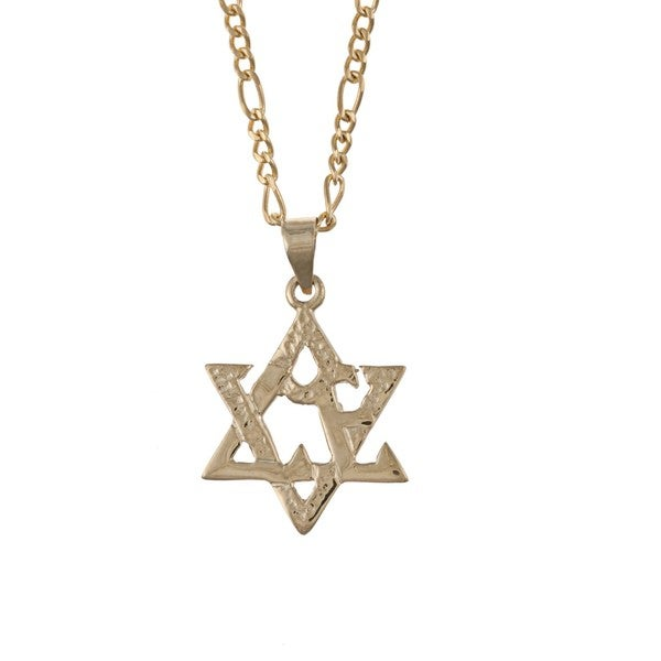 Star Of David Necklace And Pendant With 22 Inch Chain InAVJreaBU