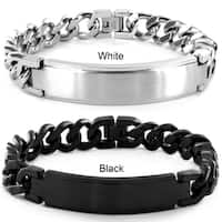 Crucible Stainless Steel Brushed ID Bracelet - 8.5 Inch