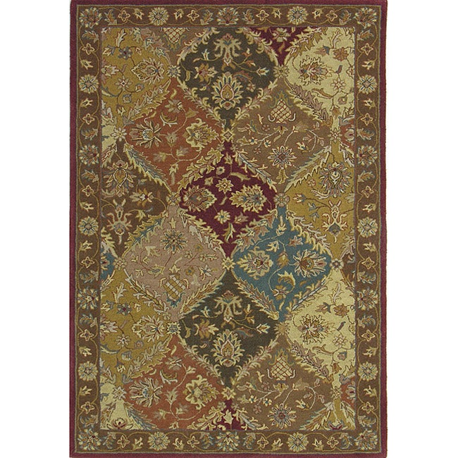 Hand-tufted Royal Garden Multicolor Ornate Wool Rug (5' x 8')