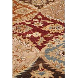 Hand-tufted Royal Garden Multicolor Ornate Wool Rug (5' x 8') - Thumbnail 2