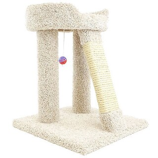 New Cat Condos 24-inch Elevated Cat Bed Tree (Option: Beige)