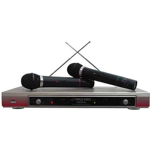 PylePro Dual VHF Wireless Microphone System (Refurbished)