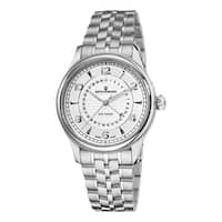 Revue Thommen Men's 10012.2132 'Date Pointer' Silver Face Automatic Watch