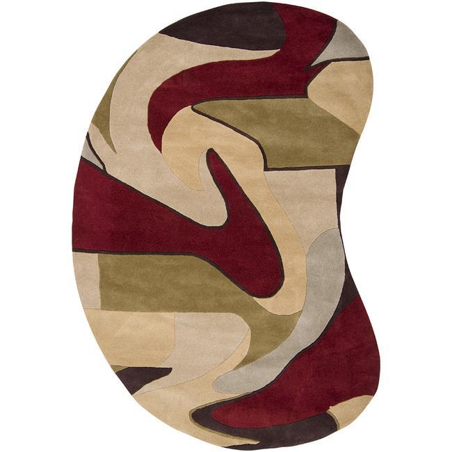 Hand-tufted Ray Wool Rug (8' x 10' Kidney)