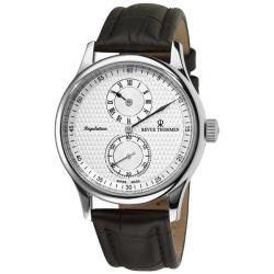 Revue Thommen Men's 'Regulator' Silver Face Automatic Regulator Watch