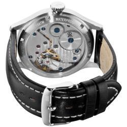 Revue Thommen Men's 'Air speed' Silver Face Mechanical Watch - Thumbnail 1