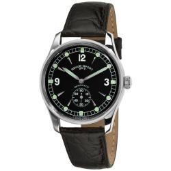 Revue Thommen Men's 15001.2537 'Sport 50's' Black leather Strap Automatic Watch