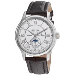 Revue Thommen Men's 'Moonphase' Silver Face Full Calendar Watch