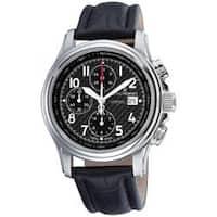 Revue Thommen Men's 'Air Speed' Black Face Automatic Chronograph Watch