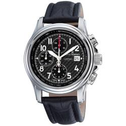 Revue Thommen Men's 'Air Speed' Black Face Automatic Chronograph Watch