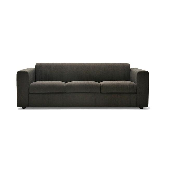 Barcelona Grey/ Dark Brown Fabric Sofa