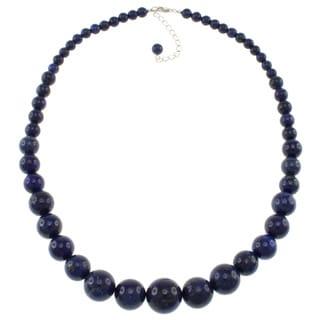 Pearlz Ocean Lapis Lazuli Graduated Necklace
