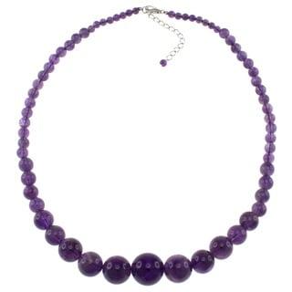 Pearlz Ocean Amethyst Graduated Necklace