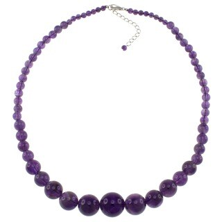 Pearlz Ocean Amethyst Graduated Necklace