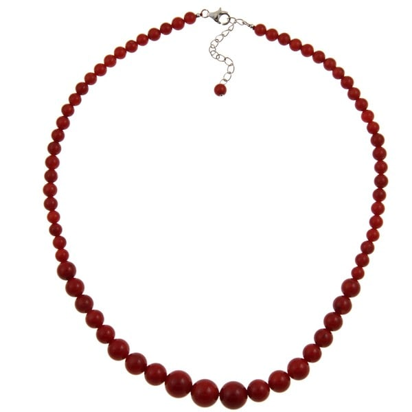 Pearlz Ocean Sterling Silver Red Coral Necklace