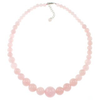 Pearlz Ocean Rose Quartz Journey Necklace Jewelry for Womens