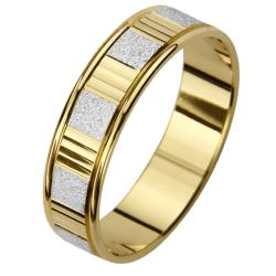 14k Two-tone Gold Men's Watch Band Easy Fit Wedding Band