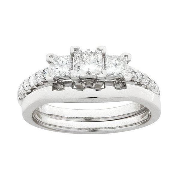 Montebello 14k White Gold 1ct TDW Diamond Bridal Ring Set