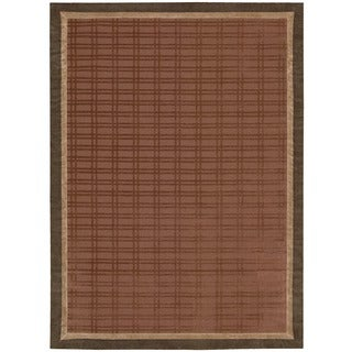 Nourison Design Geometric Chocolate Rug (5' x 7')