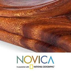Suar Wood 'Abstract Genuflect' Sculpture, Handmade in Indonesia