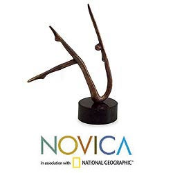 Handmade Bronze 'Concave Movement II' Sculpture (Brazil)