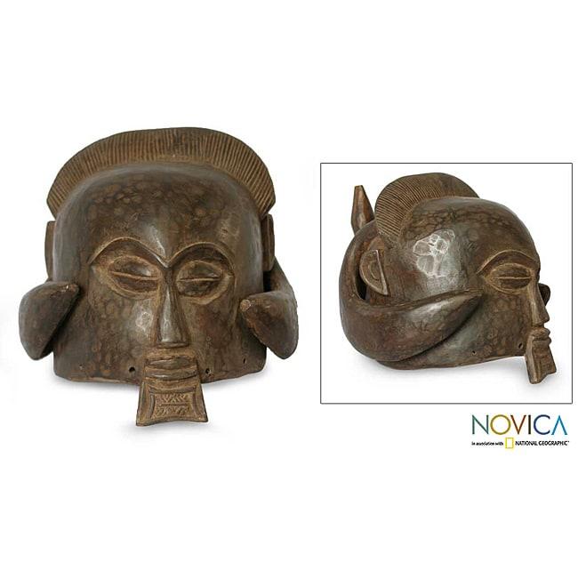 Sese Wood 'Good Luck' Africa Mask  (Ghana)