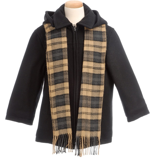 Brian Mathews Toddler Boy's Coat and Scarf Set