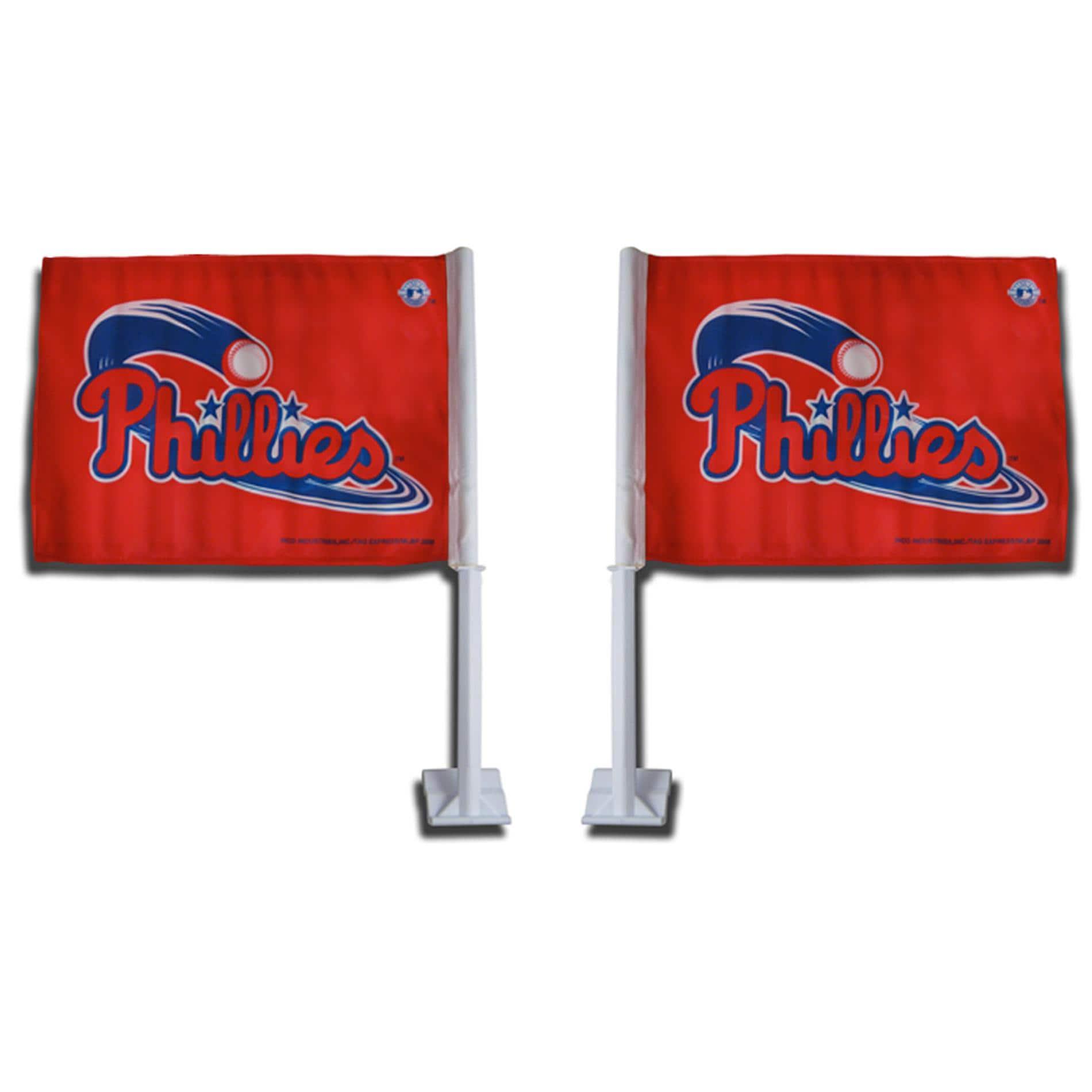 Philadelphia Phillies Car Flags (Set of 2)
