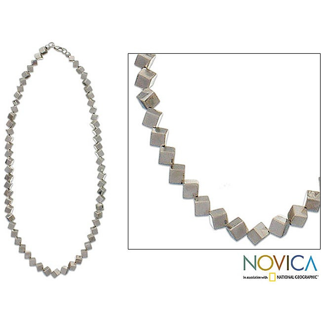 Handcrafted Sterling Silver 'Forevermore' Chain Necklace (Indonesia)