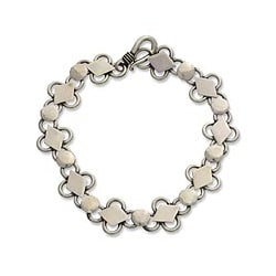 Handcrafted Sterling Silver 'Clubs and Diamonds' Bracelet (Indonesia)