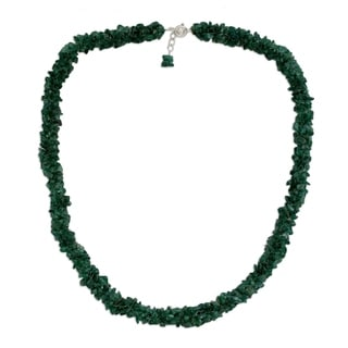 Handmade Aventurine 'In Ivy' Beaded Necklace (India)
