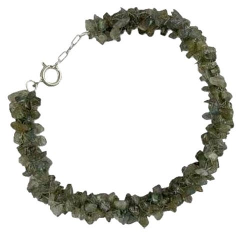 NOVICA Handmade Sterling Silver 'Mysterious Song' Labradorite Beaded Bracelet (India)