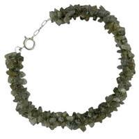 Handmade Sterling Silver 'Mysterious Song' Labradorite Beaded Bracelet (India)
